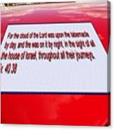 Classic Car With Text Canvas Print