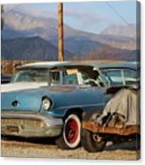Classic Chevy True Blue Canvas Print
