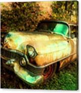 Classic Country Cadillac Painting  Canvas Print