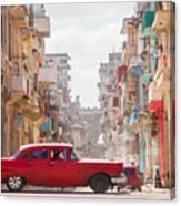 Classic Cuba Car Viii Canvas Print