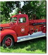 Classic Fire Truck Canvas Print