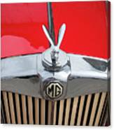 1936 Mg Ta Radiator And Mascot Canvas Print