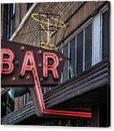 Classic Neon Sign For A Bar Livingston Montana Canvas Print