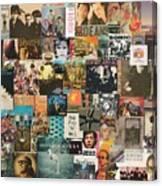 Classic Rock Lp Collage 1 Canvas Print