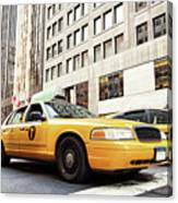 Classic Street View With Yellow Cabs In New York City Canvas Print
