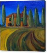 Classic Tuscan Sunset Canvas Print