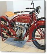 Classic Vintage Indian Motorcycle Red   # Canvas Print