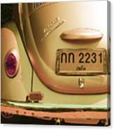 Classic Vw Beetle In Thailand Canvas Print