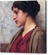 Classical Beauty John William Godward Canvas Print