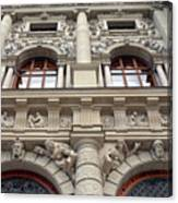Classical Decorative Building Facade In Vienna Canvas Print