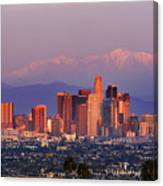 Classical View Of Los Angeles Downtown Canvas Print