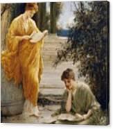 Classical Women Reading  Canvas Print