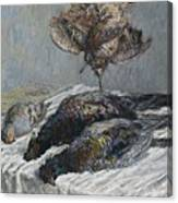 Claude Monet 1840 - 1926 Pheasant, Woodcock And Partridge Canvas Print