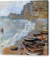 Claude Monet: Etretat, 1883 Canvas Print