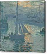 Claude Monet Sunrise Canvas Print