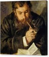 Claude Monet The Reader 1874 Canvas Print