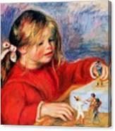 Claude Renoir At Play Sun 1905 Canvas Print