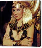 Claudette Colbert In Cleopatra 1934 Canvas Print