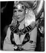 Claudette Colbert In Cleopatra 1934 Canvas Print