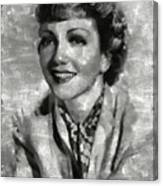Claudette Colbert Vintage Hollywood Actress Canvas Print
