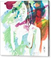 Claudia Nude Fine Art Painting Print In Sensual Sexy Color 4887. Canvas Print