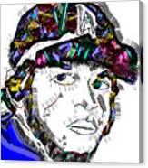 Clayton Kershaw La Dodger Canvas Print