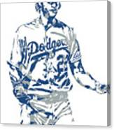 Clayton Kershaw Los Angeles Dodgers Pixel Art 10 Canvas Print