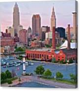 Cle Sunset View From The Shoreway Canvas Print