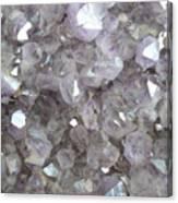Clear Crystal Amethyst Canvas Print