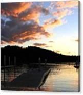 Clear Lake Sunset Canvas Print