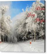 Clearing Skies Christmas Card Canvas Print