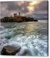 Clearing Storm At Cape Neddick Canvas Print