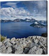 Clearing Storm At Crater Lake Canvas Print