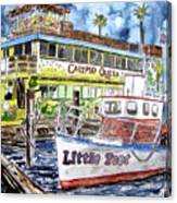 Clearwater Florida Boat Painting Canvas Print