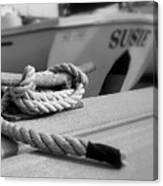 Cleat Hitch Boat Art Canvas Print