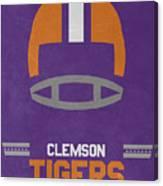 Clemson Tigers Vintage Football Art Canvas Print