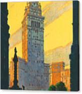 Cleveland - Vintage Travel Canvas Print