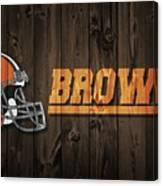 Cleveland Browns Barn Door Canvas Print