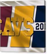 Cleveland Cavaliers Flag Canvas Print