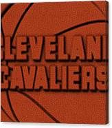 Cleveland Cavaliers Leather Art Canvas Print