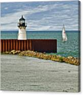 Cleveland Harbor Small Lighthouse Canvas Print
