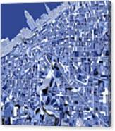 Cleveland Map Blue Canvas Print