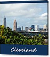 Cleveland Poster Canvas Print