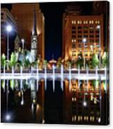 Cleveland Public Square Fountains Canvas Print