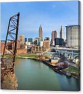 Cleveland Skyline #2 Canvas Print