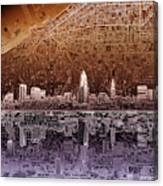 Cleveland Skyline Abstract 2 Canvas Print