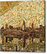 Cleveland Skyline Abstract 6 Canvas Print