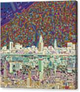 Cleveland Skyline Abstract 8 Canvas Print