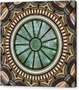 Cleveland Trust Rotunda Building Ceiling Canvas Print