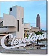 Cleveland Updated View Canvas Print